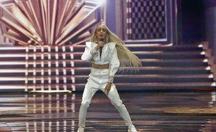 Bilal Hassani sur la scène de l'Eurovision, le 18 mai 2019.