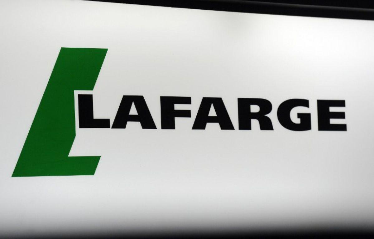 Le logo de l'entreprise Lafarge. – B. GUAY / AFP