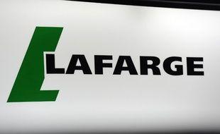 Le logo de l'entreprise Lafarge.