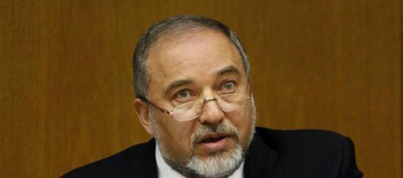Le ministre israélien des Affaires Etrangères Avigdor Lieberman le 7 juillet 2014 durant une conférence de presse à la Knesset