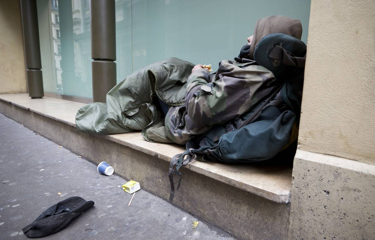 Le 06 novembre 2013. Daniel, 38 ans, SDF a Paris dans le quartier d'Haussmann.  Photo / V. Wartner / 20 Minutes – VINCENT WARTNER / 20 Minutes