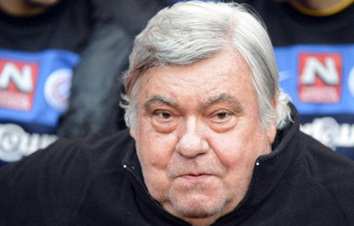 Le président du MHSCLouis Nicollin, le 7 mai 2012, à Rennes. – DAMIEN MEYER / AFP