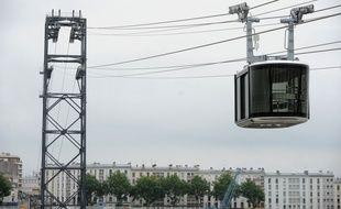 Le téléphérique urbain de Brest a été inauguré le 19 novembre.