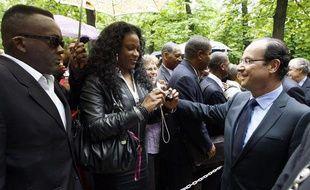 François Hollande, le 10 mai 2012 au Jardin du Luxembourg, pour la commémoration de l'abolition de l'esclavage.