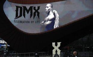 Une image de DMX lors de ses funérailles, à New York le 24 avril 2021.