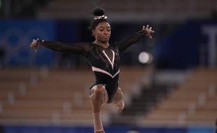 La gymnaste américaine Simone Biles, à l'entraînement ce jeudi, à la veille du début des Jeux olympiques de Tokyo.