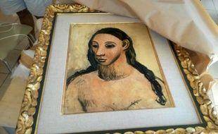 Le tableau de Picasso saisi par les douanes françaises à Calvi en Corse, le 3 août 2015