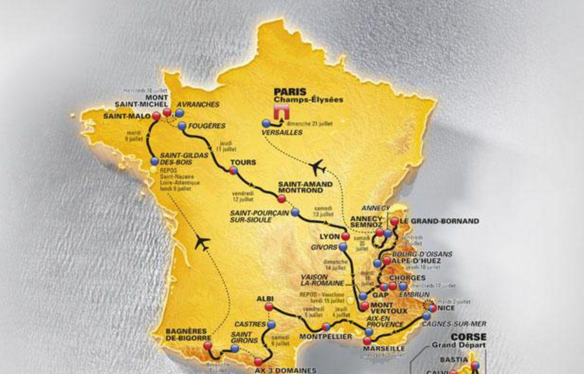 Le parcours du Tour de France 2013. – DR/ASO