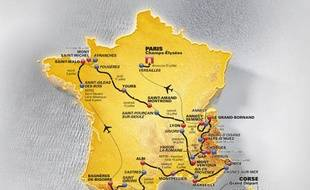 Le parcours du Tour de France 2013.