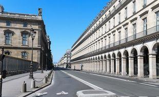 La rue de Rivoli, à Paris, pendant le confinement.