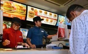 Un restaurant McDonald's le 30 juillet 2014 à Tokyo