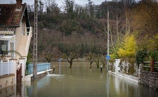 Le 26 janvier 2018, la crue de la Seine à Saint Mammès