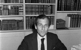 Un portrait de Jean d'Ormesson pris le 18 octobre 1973 à Paris.