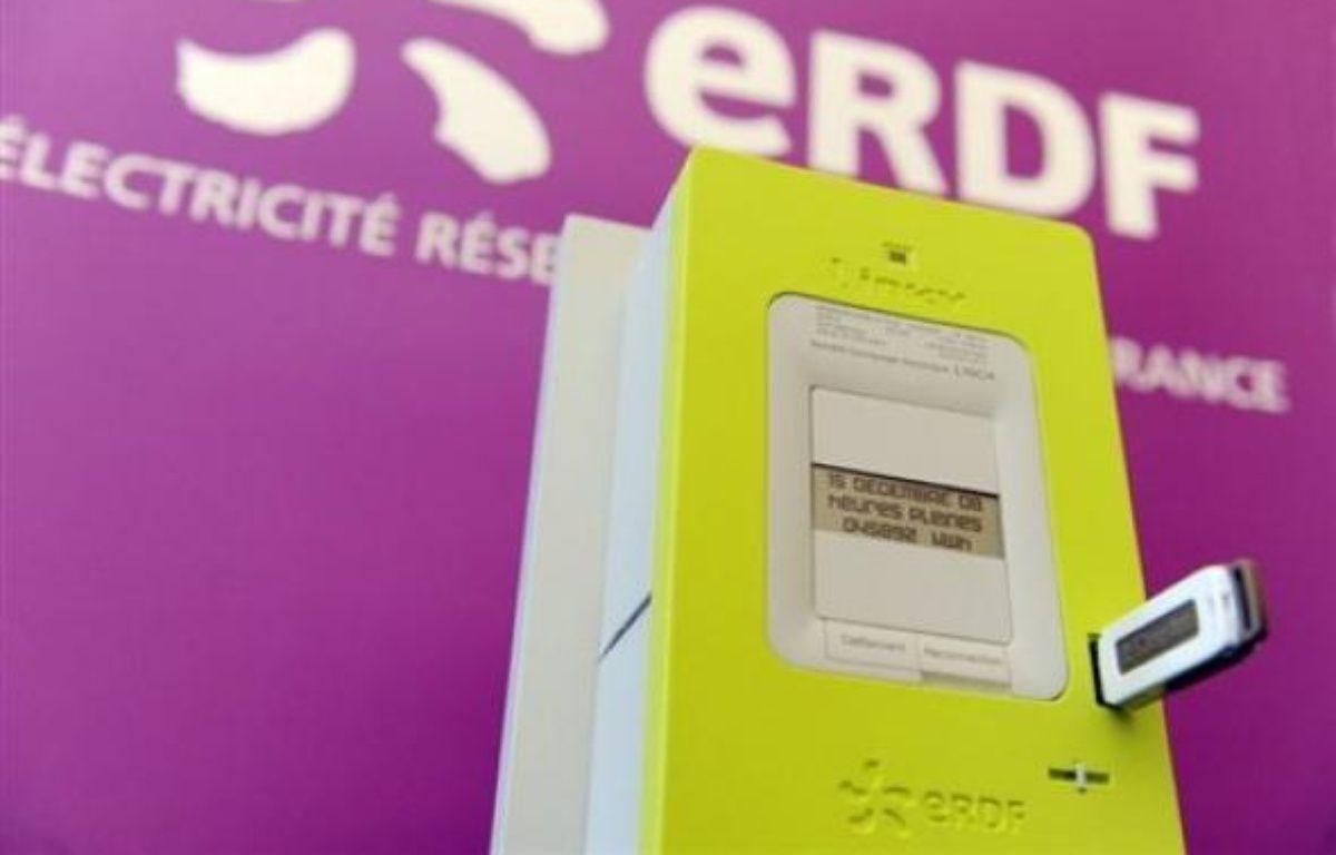 """""""Linky"""", le nouveau compteur électronique """"communicant"""" appelé à remplacer les 35 millions de compteurs électriques équipant les foyers françai. – Alain Jocard AFP"""