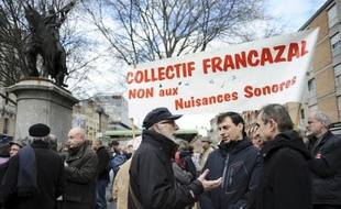 Manifestation à Toulouse contre la privatisation de l'aéroport de Blagnac le 14 mars 2015