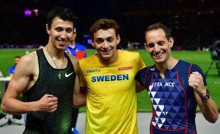 Renaud Lavillenie n'a pu faire mieux que troisième à l'issue d'un concours exceptionnel de saut à la perche aux championnats d'Europe de Berlin.