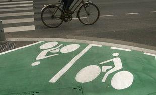 Illustration d'un cycliste.