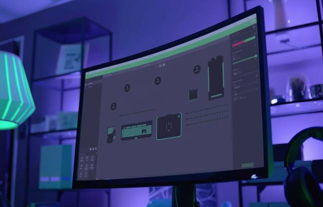 Un logiciel permet de configurer la nature et l'intensité des illuminations.