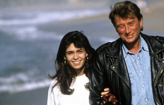 Johnny Hallyday et Adeline Blondieau Bayonne, 18/02/1990.