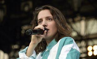 L'actrice et chanteuse Aloïse Sauvage, le 7 juillet 2018 à Paris