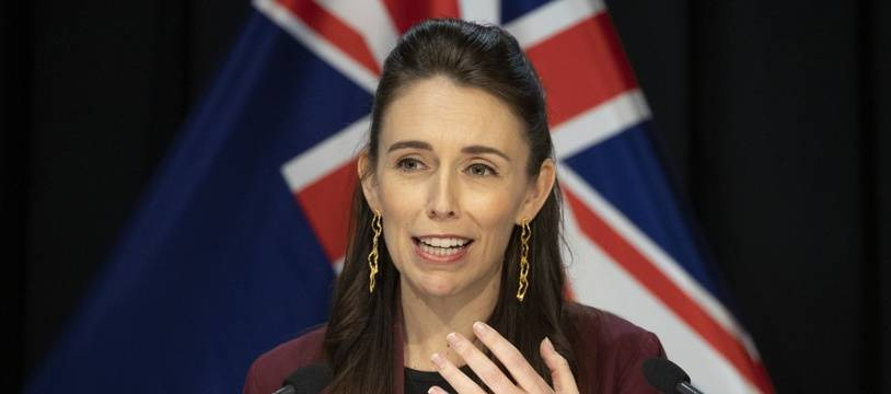 La Première ministre de Nouvelle-Zélande, Jacinda Ardern, lors d'une conférence de presse au Parlement, à Wellington, le 27 avril 2020.