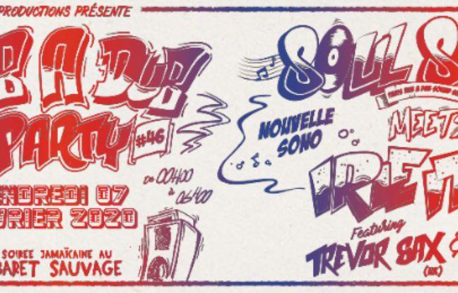 Affiche de la 46e Rub a Dub Party au Cabaret Sauvage