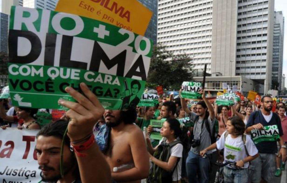 Les délégués de Rio+20 sont parvenus mardi à un accord à l'arraché sur un projet de déclaration finale quelques heures avant le début d'un sommet où une centaine de chefs d'Etat ou de gouvernement devaient s'engager en faveur de l'éradication de la pauvreté et de la préservation de la planète. – Antonio Scorza afp.com