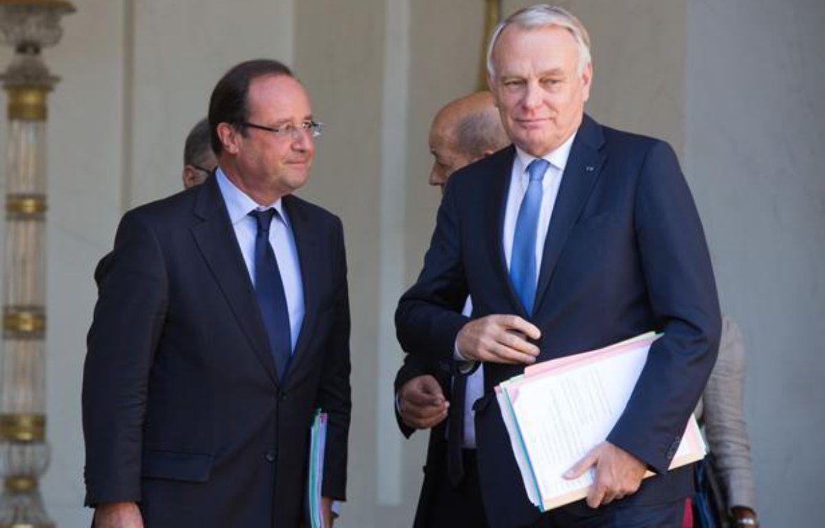 François Hollande et jean-Marc Ayrault le 4 septembre 2013. – REVELLI-BEAUMONT/SIPA