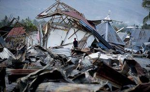 La désolation dans un village proche de Palu, en Indonésie après le séisme, le 7 octobre 2018