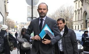 Edouard Philippe avant son allocution le 4 décembre 2018 à Paris.