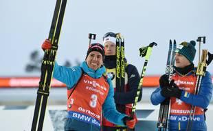 Quentin Fillon-Maillet remporte le bronze lors de la poursuite d'Ostersund.