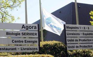 Le site du groupe Servier à Gily, près d'Orléans, en avril 2014