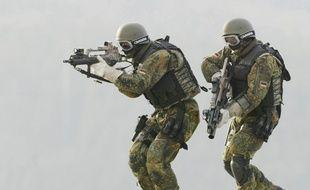 Des membres des KSK, les forces spéciales allemandes.