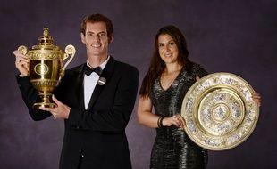 Marion Bartoli et Andy Murray à Wimbledon en 2013.