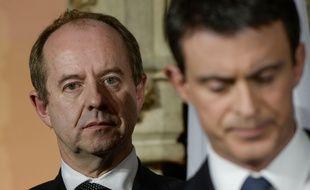 Jean-Jacques Urvoas, ici aux côtés de Manuel Valls.