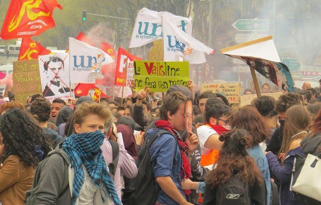 La quatrième manifestation contre la loi travail à Marseille
