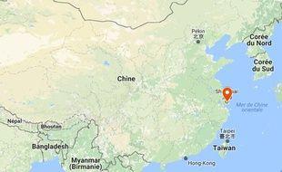 La ville de Shanghai en Chine.