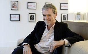 Le patron de Netflix, Reed Hastings, à Paris pour le lancement de la plateforme le 15 septembre 2014.
