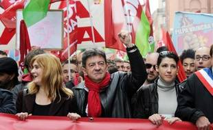 Jean-Luc Mélenchon manifeste contre l'austérité, le 1er juin 2013 à Toulouse;