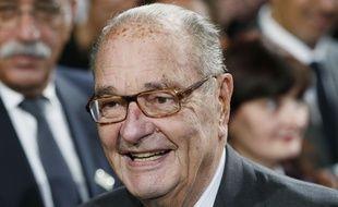 Le 21 novembre 2014, Jacques Chirac à la Fondation du Quai Branly. AFP PHOTO / POOL / PATRICK KOVARIK / ALTERNATIVE CROP