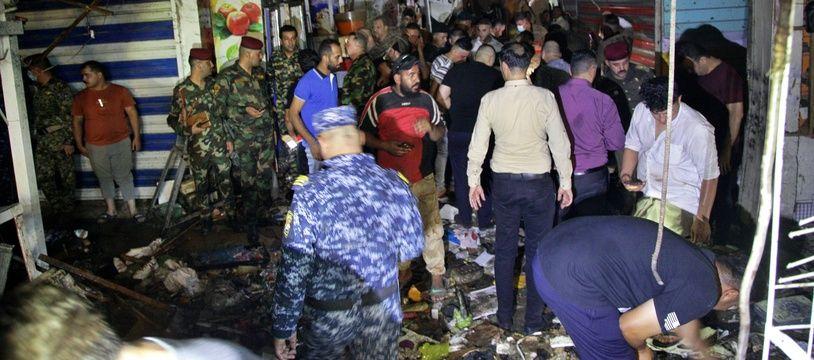 Une bombe a explosé le 19 juillet 2021 sur un marché de Sadr City, un quartier chiite de l'est de Bagdad.