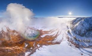 Illustration d'un volcan de Yellowstone
