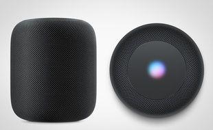 L'enceinte intelligente HomePod d'Apple, lancée le 18 juin.