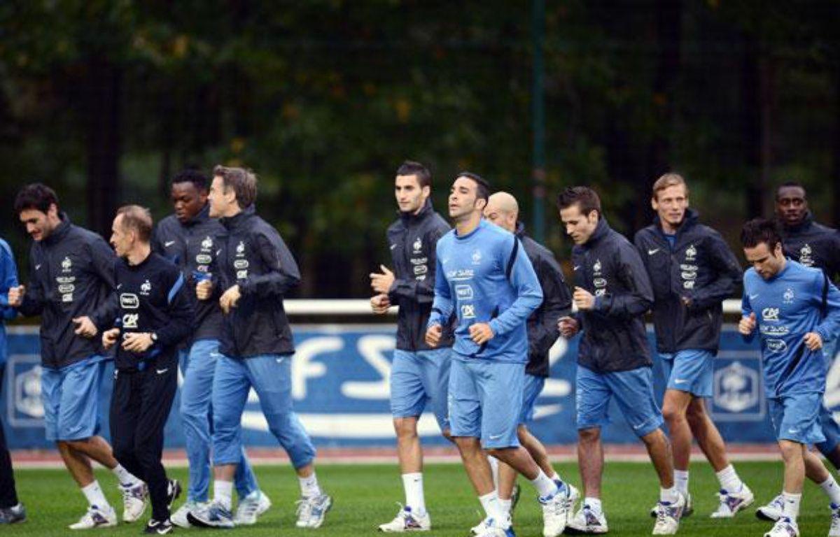 Les joueurs de l'équipe de France, le 8 octobre 2012? à Clairefontaine. – FRANCK FIFE / AFP