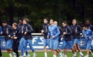 Les joueurs de l'équipe de France, le 8 octobre 2012? à Clairefontaine.