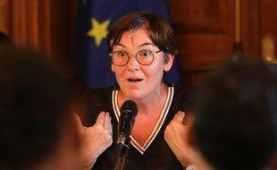 La ministre des Outre-mer Annick Girardin à Sainte-Marie à La Réunion, le 28 novembre 2018.
