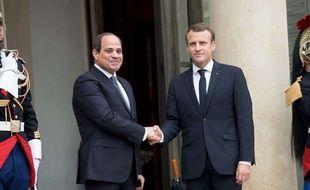 Emmanuel Macron et son homologue égyptien, à l'Elysée