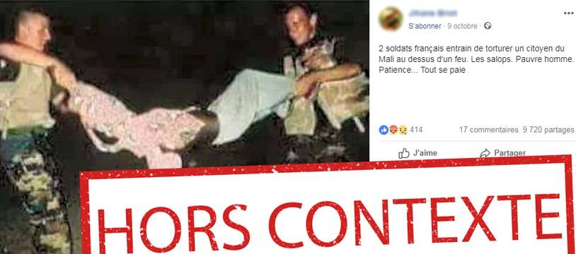 La photo virale date de 1993 et a été prise en Somalie.