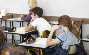 Lycée Massena, à Nice, le 13/10/2020.