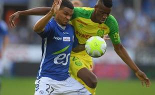 L'attaquant Kalifa Coulibaly face à Strasbourg.